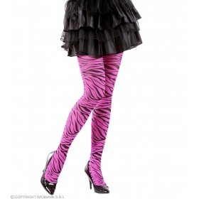 Pantyhose Pink Zebra 40 Den - Fancy Dress (Animals)