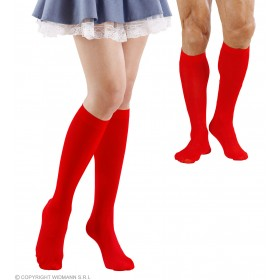 Under The Knee Socks - Red - Fancy Dress