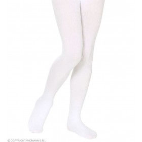 Pantyhose Child Sizes - White - Fancy Dress Girls (Christmas)