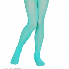 Pantyhose Child Sizes - Turquoise - Fancy Dress Girls