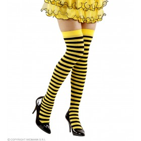 Bee Over Knee Socks - Xl - 70 Den - Fancy Dress