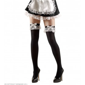 Xl French Maid Thigh Highs 70 Den - Fancy Dress