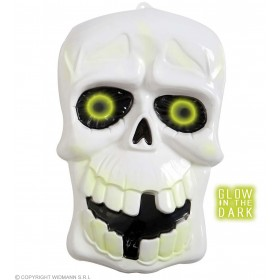 3D Glow In The Dark Skulls - 35X55Cm - Fancy Dress (Halloween)
