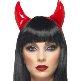 Devil Horns On A Headband - Fancy Dress Ladies (Halloween)