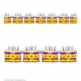 Birthday Cake Garlands - 3M - Fancy Dress