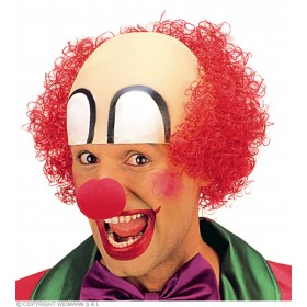 Clown Headpiece With Hair - Fancy Dress (Clowns)