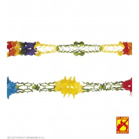 Jumbo Paper Garlands 2Styles Flame Ret - Fancy Dress