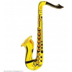 Yellow Inflatable Saxophone Fancy Dress Accessory
