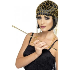 Gold Extendable Cigarette Holder - Fancy Dress (1920S)