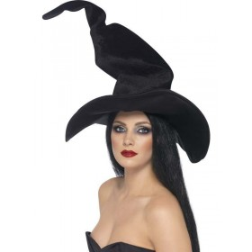 Tall And Twisty Witches Hat - Fancy Dress Ladies (Halloween)