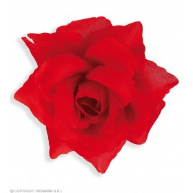 Red Rose Hairclip - Fancy Dress