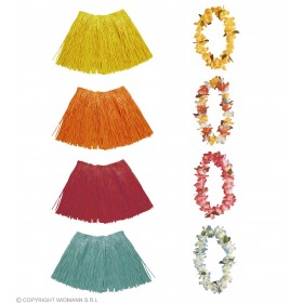 Flower Lei & Raffia Set - Fancy Dress