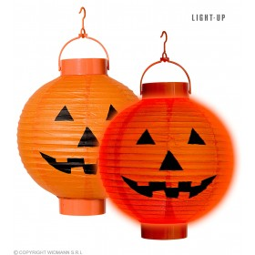Led Light Pumpkin Lanterns 20Cm - Fancy Dress (Halloween)