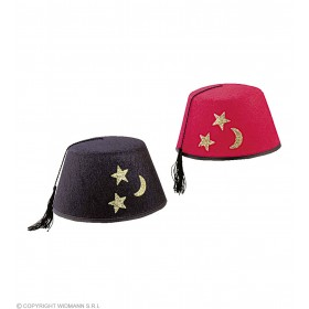 Single Fez Felt Hat Red Or Black  - Fancy Dress