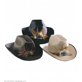 Felt Cowboy Hat W/Feather - Fancy Dress (Cowboys/Native Americans)