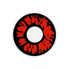 Unisex Explosion Red Contact Lense(Fancy Dress Accessory)