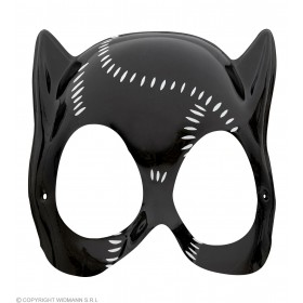 Cat Lady Mask Plastic - Fancy Dress Ladies