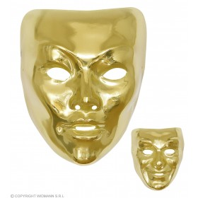 Mens Gold Mask Plastic 2 Styles Masks - (Gold)
