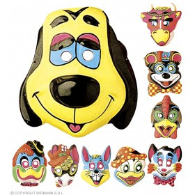 Animal Mask Plastic 9Styles - Fancy Dress (Animals)