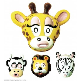 Plastic Zoo Park Mask 4 Styles - Fancy Dress