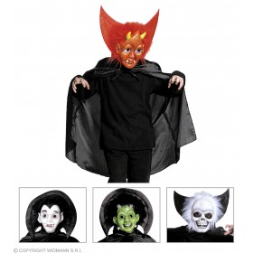 Halloween Mask W/Collar/Cape - Fancy Dress (Halloween)