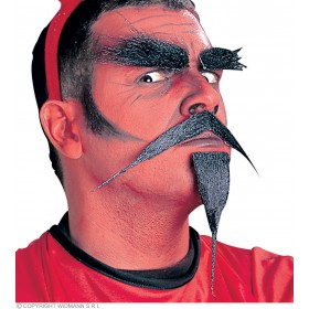 Devil Beard/Tash Set - Fancy Dress (Halloween)