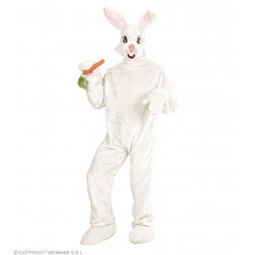 Plush Bunny Costume Adult Fancy Dress Costume (Animals)