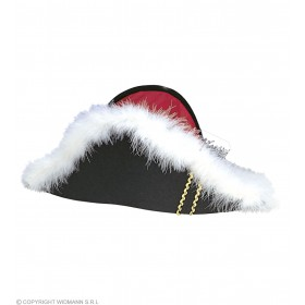 Napoleon Felt Hat W/Marabou - Fancy Dress