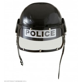 Unisex Child Riot Police Helmet Hard Plastic Hats - (Black)