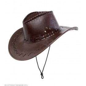 Leatherlook Brown Cowboy Hat - Fancy Dress (Cowboys/Native Americans)