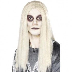 Mens Ghost Town Native American Wig Halloween Wigs - (Grey)