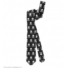 Satin Skull Neckties - Fancy Dress (Halloween)
