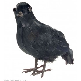 Crow Decorative Feathered - Fancy Dress (Halloween)