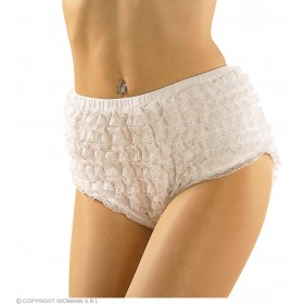 Lace Panties White Medium Fancy Dress Costume Accessory