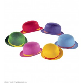 Child Felt Bowler Hats 6 Colors Asstd (1 Supplied) - Fancy Dress