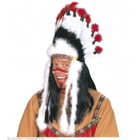 Native American Headress Sitting Bull - Fancy Dress (Cowboys/Native Americans)