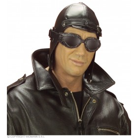 Aviator Hat Leatherlook - Fancy Dress