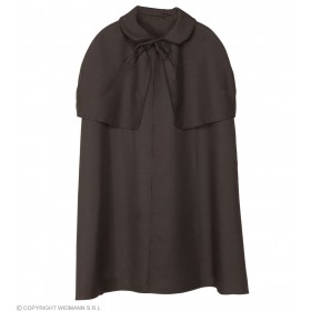 Cape Black Heavy Fabric W/Tippet Fancy Dress Costume