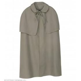 Cape Grey Heavy Fabric W/Tippet Fancy Dress Costume
