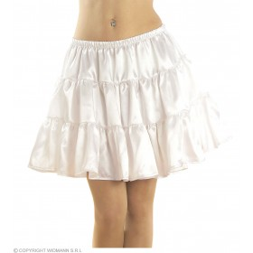 Petticoat Satin White Fancy Dress Costume