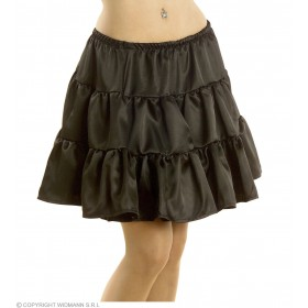 Petticoat Satin Black Fancy Dress Costume