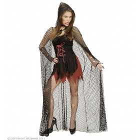 Hooded Fishnet Capes 150 Cm Fancy Dress Costume (Halloween)