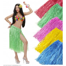 Hawaiian Skirt Coloured 75Cm Fancy Dress Costume (Hawaiian)