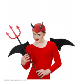Felt Devil Cap Red Or Black - Fancy Dress (Halloween)