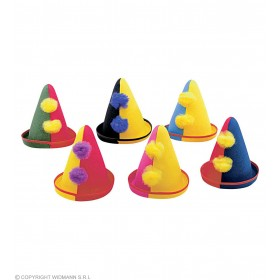 Clown Felt Hat Child Cols Asstd - Fancy Dress (Clowns)