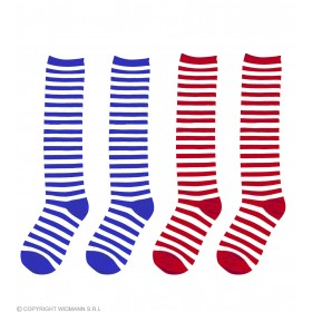 Clown Socks Xl 68Cm 2Cols - Fancy Dress (Clowns)
