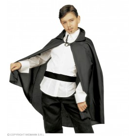 Cape Small 90Cm Black Fancy Dress Costume (Halloween)