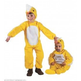 Chick & Jumpsuit & Headpiece, Costume Age 2-3 (Animals)