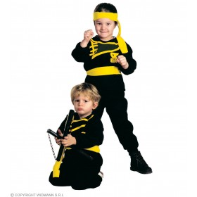Ninja - Coat, Pants, Belt, Headband, Costume Age 3-4 (Ninja)