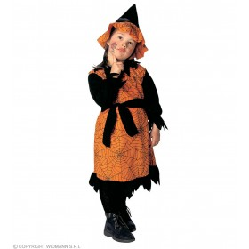 Witch & Dress And Hat, Soft & Cute Fancy Dress Age 2-3 (Halloween)